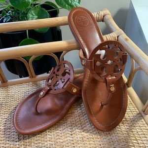 Tory Burch Vintage Vachetta Leather Miller Sandals